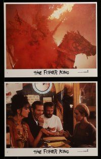 9a067 FISHER KING 8 8x10 mini LCs '91 Jeff Bridges & Robin Williams, directed by Terry Gilliam