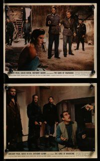 9a072 GUNS OF NAVARONE 8 color 8x10 stills '61 Gregory Peck, Anthony Quinn, World War II classic!