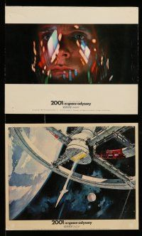 9a001 2001: A SPACE ODYSSEY 12 color English FOH LCs '68 Stanley Kubrick, great Cinerama scenes!
