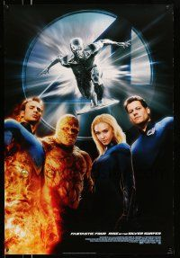 9c040 4: RISE OF THE SILVER SURFER style B DS 1sh '07 Jessica Alba, Chiklis, Chris Evans!