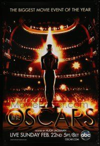 9c044 81ST ANNUAL ACADEMY AWARDS DS 1sh '09 art of the Oscar statuette in front of huge audience