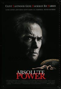 9c047 ABSOLUTE POWER 1sh '97 great image of star & director Clint Eastwood!