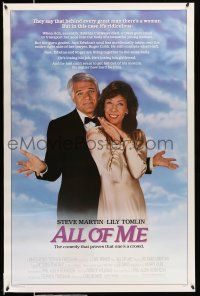 9c056 ALL OF ME 1sh '84 wacky Steve Martin, Lily Tomlin, the comedy that proves one's a crowd!