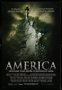 9c061 AMERICA: IMAGINE THE WORLD WITHOUT HER advance DS 1sh '14 Statue of Liberty crumbling!