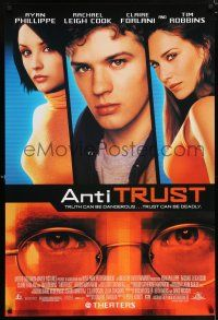 9c074 ANTITRUST 1sh '01 Ryan Phillippe, Rachael Leigh Cook, Claire Forlani, Tim Robbins