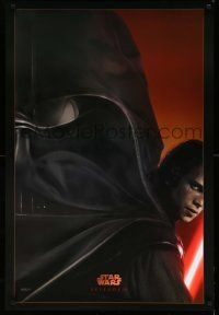 9c032 REVENGE OF THE SITH style A teaser DS 1sh '05 Star Wars Episode III, image of Darth Vader!