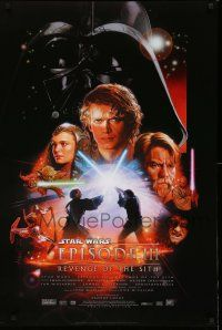9c033 REVENGE OF THE SITH style B DS 1sh '05 Star Wars Episode III, cool artwork by Drew Struzan!