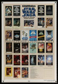 9c028 STAR WARS CHECKLIST 2-sided Kilian 1sh '85 great images of U.S. posters!
