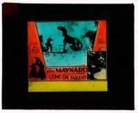 9d056 COME ON, TARZAN glass slide '32 great images of cowboy hero Ken Maynard & his Wonder Horse!