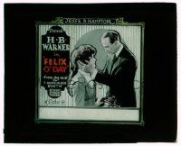 9d065 FELIX O'DAY glass slide '20 H.B. Warner finds the man who ran off with his wife & kills him!