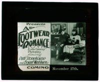 9d067 FOOTWEAR ROMANCE glass slide '15 Ruth Stonehouse & Bryant Washburn, Essanay shoe short!