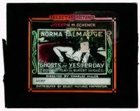 9d068 GHOSTS OF YESTERDAY glass slide '18 Norma Talmadge in a dual role, from Rupert Hughes play!