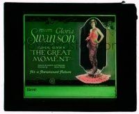 9d069 GREAT MOMENT glass slide '21 beautiful Gloria Swanson goes through several men!