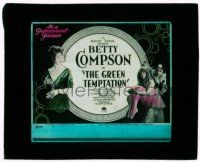 9d070 GREEN TEMPTATION glass slide '22 Betty Compson is an Apache jewel thief in Paris France!