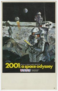 9d002 2001: A SPACE ODYSSEY Cinerama mini WC '68 Kubrick, art of astronauts on moon by Bob McCall!