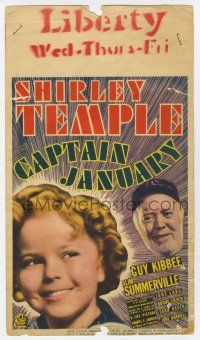 9d007 CAPTAIN JANUARY mini WC '36 headshot images of cutest sailor Shirley Temple & Guy Kibbee!