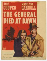 9d015 GENERAL DIED AT DAWN mini WC '36 mercenary Gary Cooper in China in love w/Madeleine Carroll!