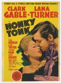 9d020 HONKY TONK mini WC '41 Clark Gable & Lana Turner, every kiss a thrill, better than Boom Town!