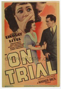 9d027 ON TRIAL mini WC '39 new lawyer John Litel clears a killer, from the play by Elmer Rice!