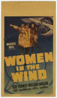 9d036 WOMEN IN THE WIND mini WC '39 Kay Francis & two other female pilots by plane propeller!