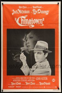 9g112 CHINATOWN Aust 1sh '75 great art of smoking Jack Nicholson & Faye Dunaway, Roman Polanski!