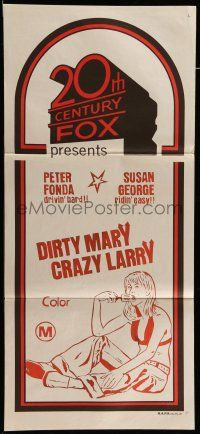 9g125 20TH CENTURY FOX Aust daybill 71 Dirty Marry Crazy Larry