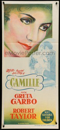 9g165 CAMILLE Aust daybill R55 Robert Taylor, portrait of beautiful Greta Garbo!