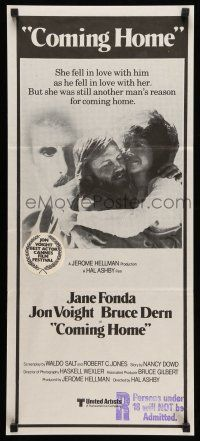 9g176 COMING HOME Aust daybill '78 Jane Fonda, Jon Voight, Bruce Dern, Ashby, Vietnam veterans!