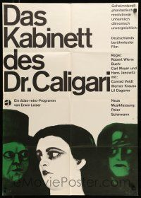 9g432 CABINET OF DR CALIGARI German R60s Conrad Veidt, very strange art by Blase!