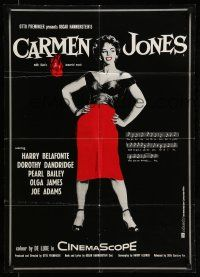 9g433 CARMEN JONES export German R80s different full-length silhouette art of Dorothy Dandridge!