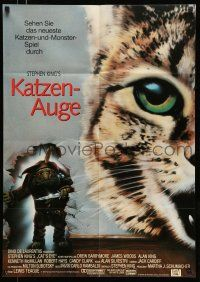 9g436 CAT'S EYE German '86 Stephen King, Drew Barrymore, art of wacky little monster by Jeff Wack!