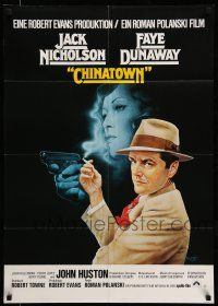 9g438 CHINATOWN German R80s Polanski, best Amsel art of smoking Jack Nicholson & Faye Dunaway!