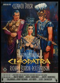 9g440 CLEOPATRA German '63 Elizabeth Taylor, Richard Burton, Rex Harrison, Terpning, post-awards!
