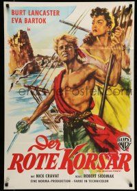 9g448 CRIMSON PIRATE German R59 different art of barechested Burt Lancaster & Eva Bartok!