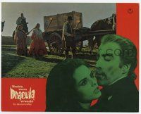 9g774 COUNT DRACULA German LC '70 directed by Jesus Franco, Christoper Lee as the vampire!