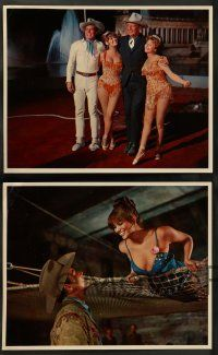 9g661 CIRCUS WORLD 11 English LCs '65 great images of Claudia Cardinale, John Wayne, Rita Hayworth!