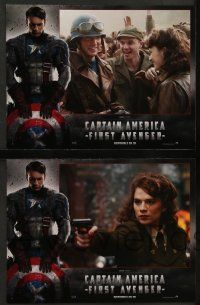 9g979 CAPTAIN AMERICA: THE FIRST AVENGER 6 French LCs '11 Hugo Weaving, Chris Evans in title role!