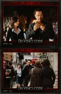 9g911 DA VINCI CODE 8 French LCs '06 Tom Hanks, Audrey Tautou, Ian McKellen, Ron Howard