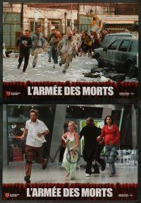 9g912 DAWN OF THE DEAD 8 French LCs '04 Sarah Polley, Ving Rhames, Jake Weber, remake!