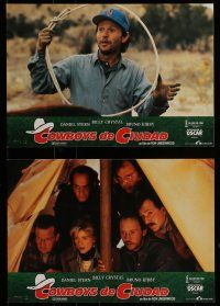 9g694 CITY SLICKERS 12 Spanish LCs '91 different images of cowboys Billy Crystal & Daniel Stern!