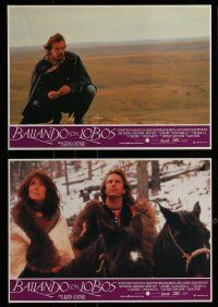 9g695 DANCES WITH WOLVES 12 Spanish LCs '91 Kevin Costner & Native American Indians!
