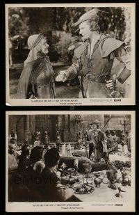 9s930 ADVENTURES OF ROBIN HOOD 2 8x10 stills R56 Errol Flynn, De Havilland, adventure classic!