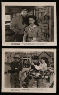 9s932 ANGEL & THE BADMAN 2 8x10 stills '47 John Wayne & pretty Gail Russell in cabin and on street!