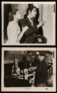 9s958 JESSE JAMES 2 8x10 stills '39 great images of Tyrone Power, Nancy Kelly!