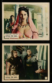 9s135 ATTILA 2 color English FOH LCs '58 Anthony Quinn as The Hun, incredible image of Sophia Loren