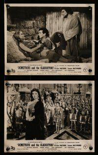 9s946 DEMETRIUS & THE GLADIATORS 2 English FOH LCs '54 Mature & Susan Hayward, Rennie, Padget!