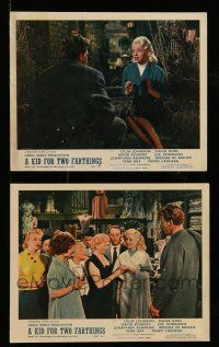 9s146 KID FOR TWO FARTHINGS 2 color English FOH LCs '56 sexy Diana Dors, directed by Carol Reed!