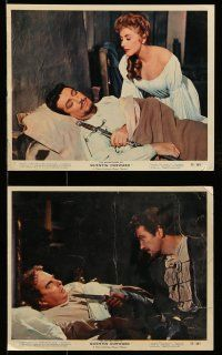 9s009 ADVENTURES OF QUENTIN DURWARD 9 color 8x10 stills '55 hero Robert Taylor, pretty Kay Kendall!