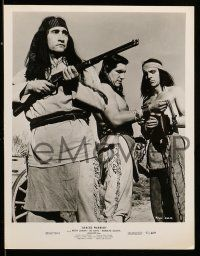 9s820 APACHE WARRIOR 3 8x10 stills '57 Keith Larson, Native American Indian warriors!