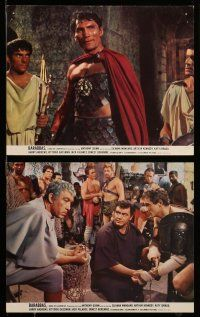 9s010 BARABBAS 9 color 8x10 stills '62 Richard Fleischer, Anthony Quinn, Jack Palance!